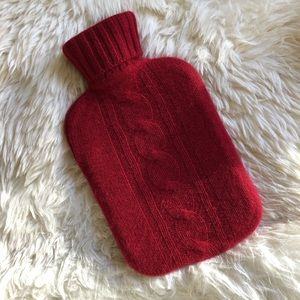 CHIC RED CASHMERE WATER BOTTLE NWOT